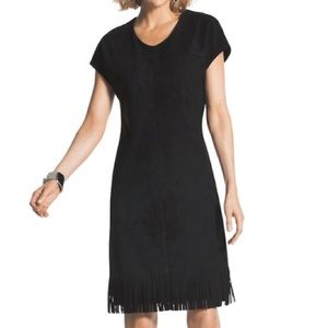 NWT Faux Suede Fringe Hem Dress Loose Suede Dress